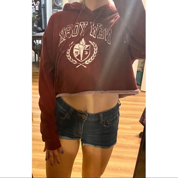 wild fable Tops - Vintage Inspired NY Cropped Hoodie Sweatshirt